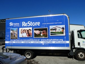 Restore Truck that is used to transport donated items