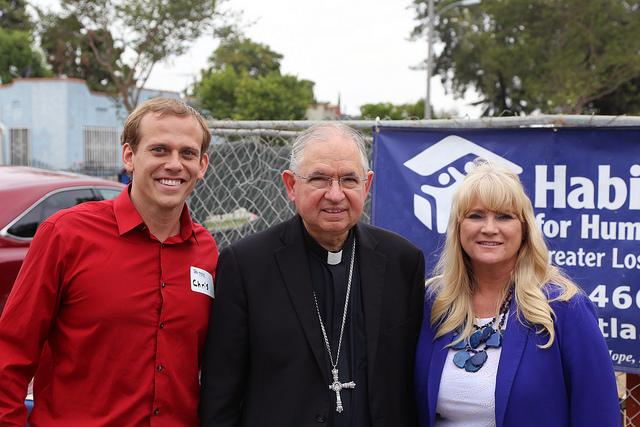 Chris Untiet, Archbishop Gomez, Erin Rank