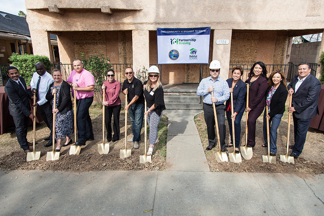 Montebello groundbreaking event in 2015.