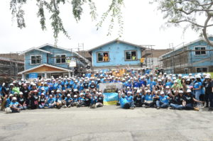 A group shot of all of the participants from the 2019 Hollywood Build Entertainment Build Day.