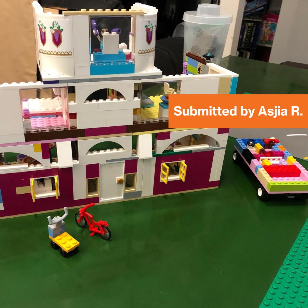 Imagine Design Build contestant winner. Made out of Legos