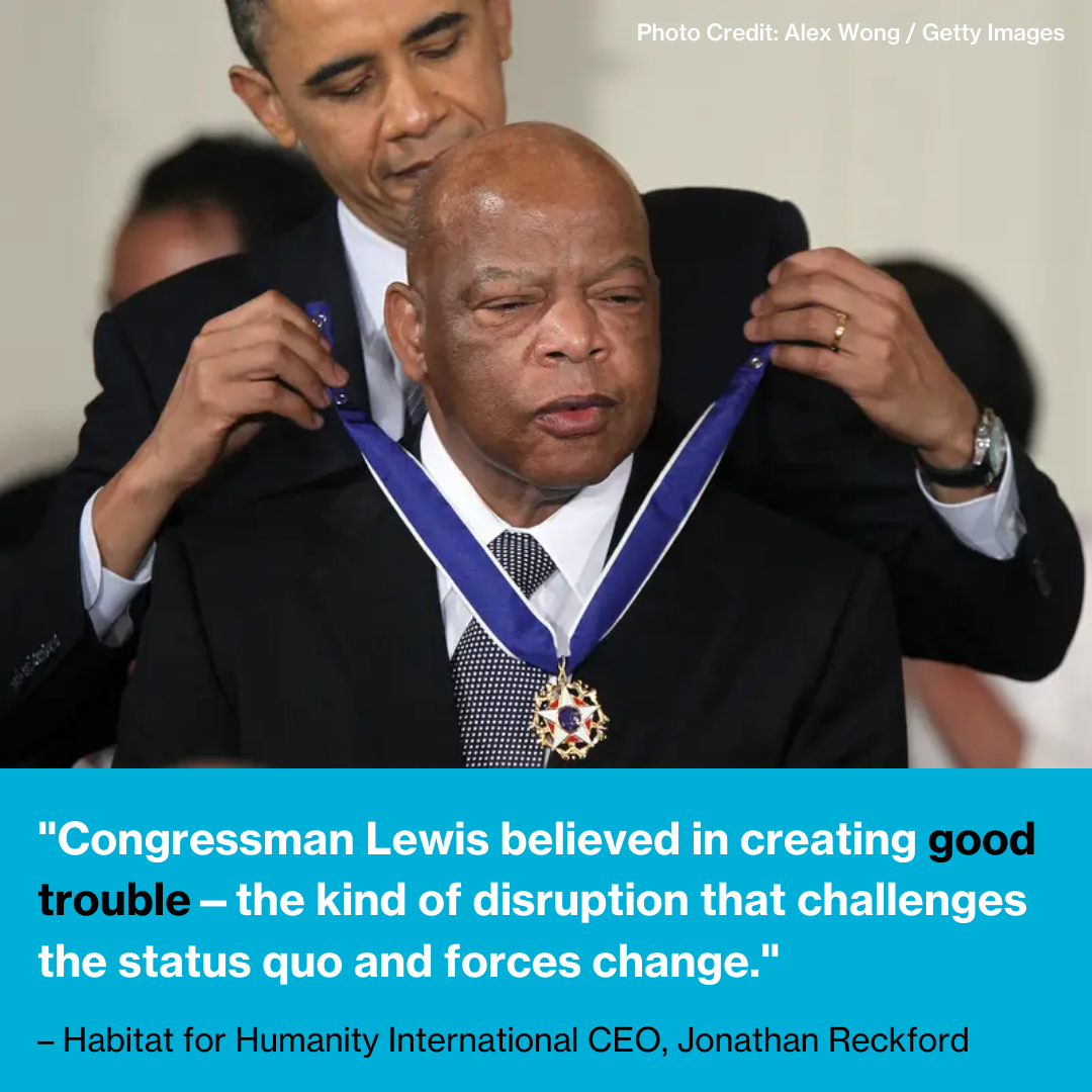 Barack Obama and John Lewis.