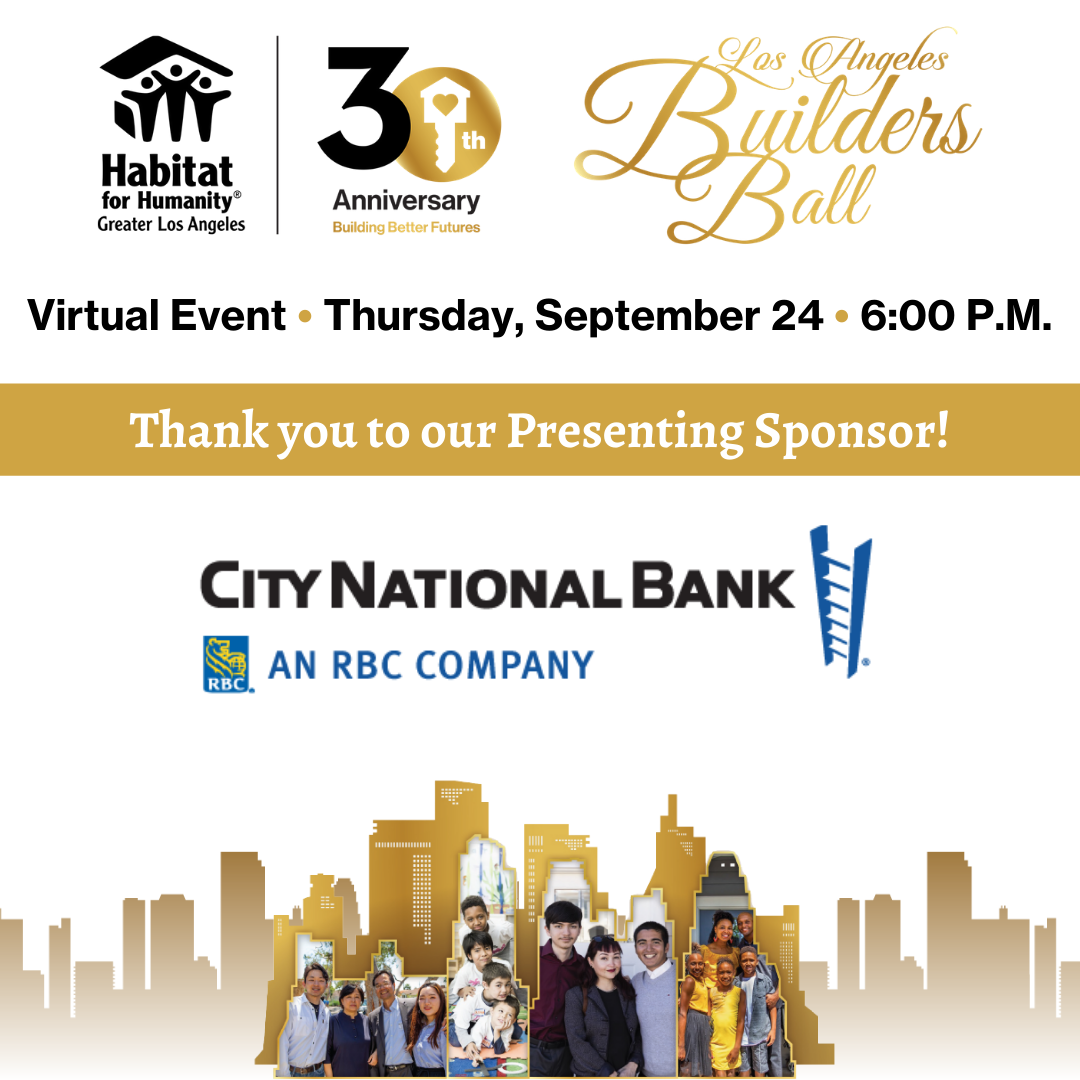 Los Angeles Builders Ball® Invitation Presented by City National Bank