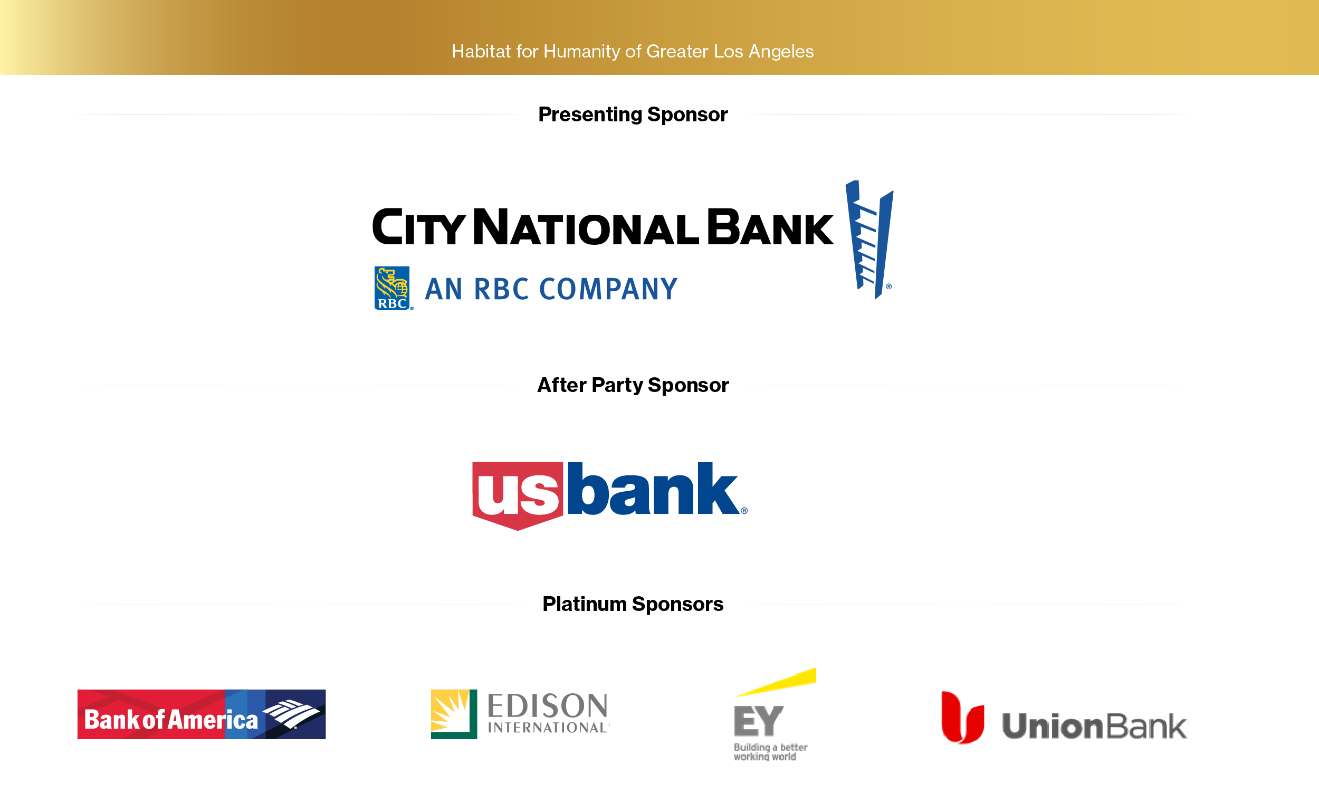 List of sponsors from this year's virtual Los Angeles Builders Ball.