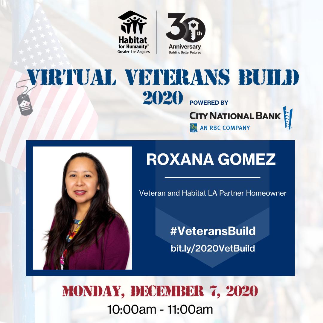 graphic for panel speaker, Roxana Gomez