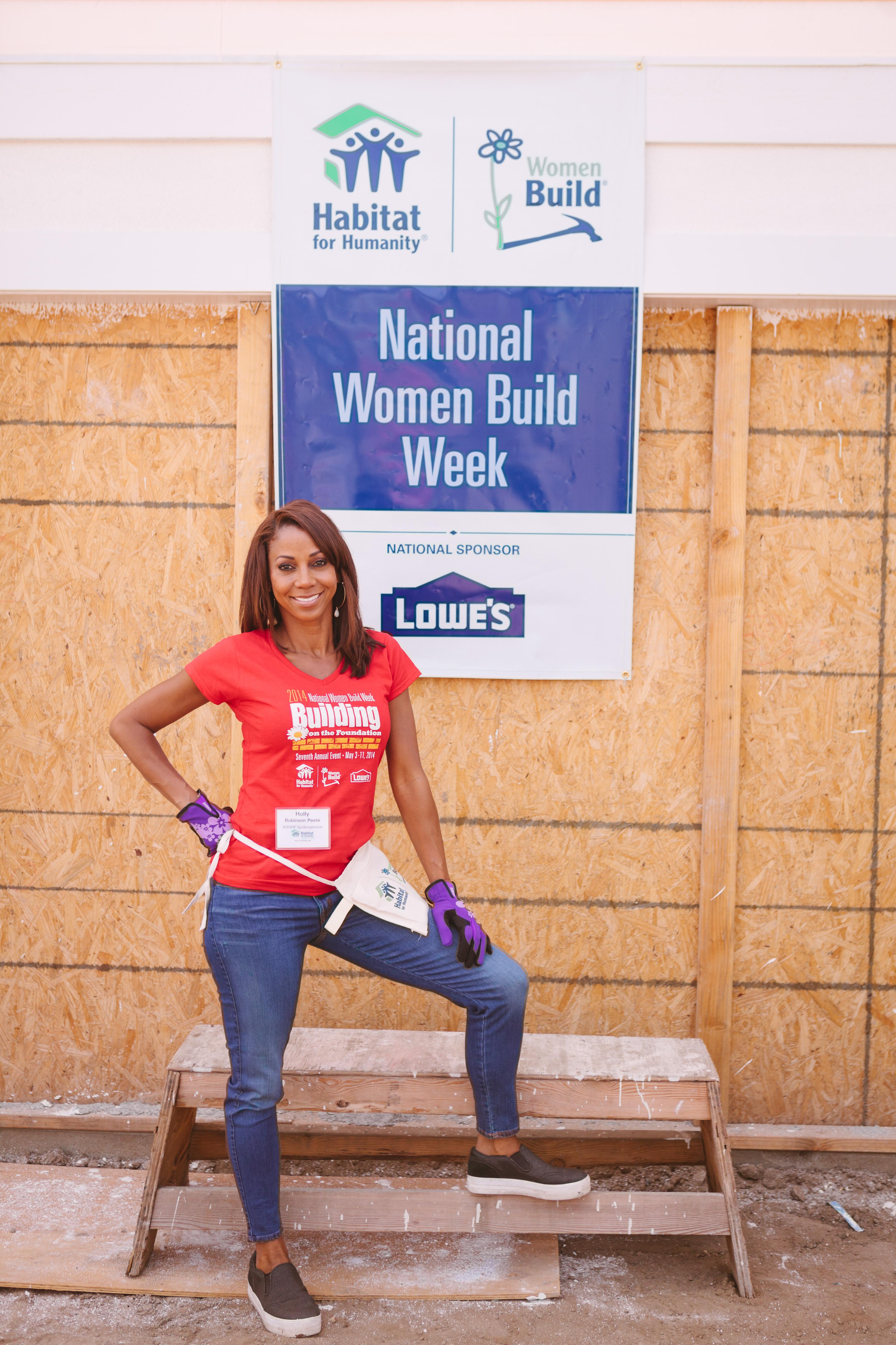 National Women Build Week Spokesperson Volunteers to Build ...